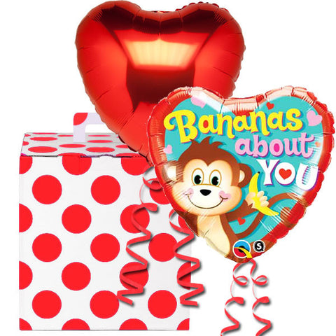 Bananas About You Helium Balloon in a Box Gift