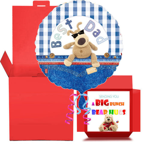 Best Dad Foil Balloon in a Box Gift Free 1st Class Delivery