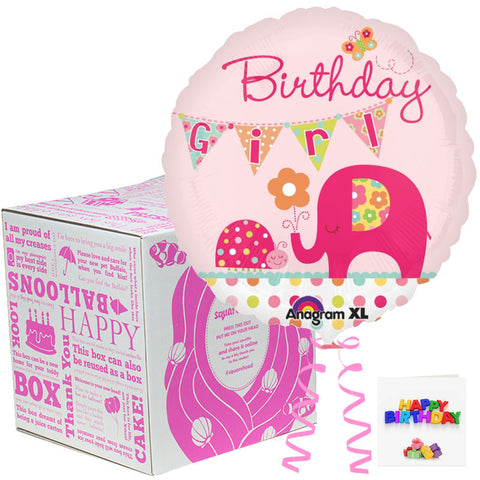 Squarehead Elephant Birthday Balloon