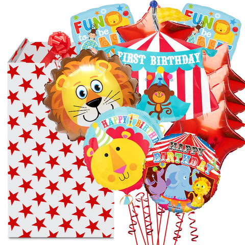 1st Birthday Circus Tent Mega Balloon Bouquet