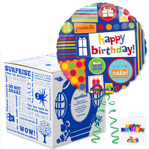 Squarehead Collage Birthday Balloon