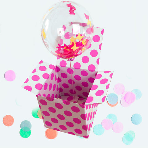 Butterfly Confetti Filled Bubble Balloon