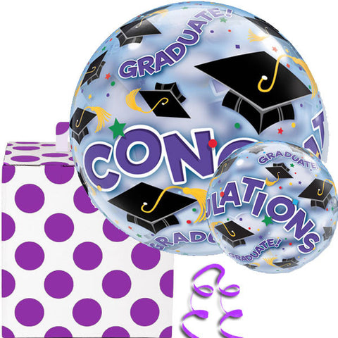 Congrats Graduate Hats Bubble Balloon