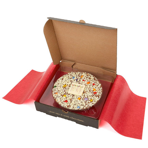 Congratulations Chocolate Pizza Gift