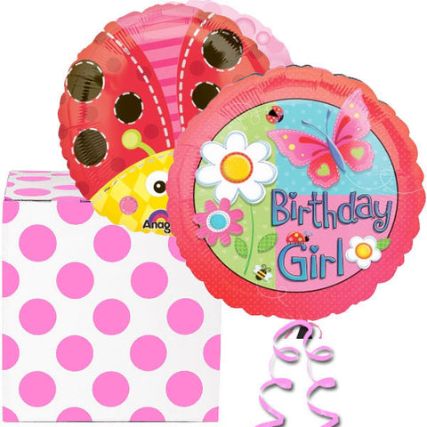 Birthday Girl Garden Helium Foil Balloon Duo