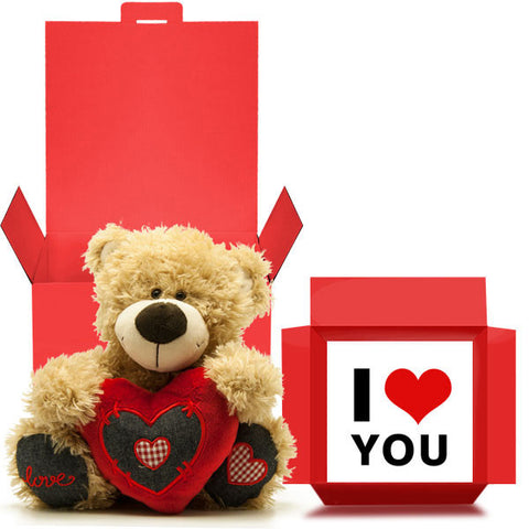 I Love You Valentine's Ted in a Box Gift Free 1st Class Delivery