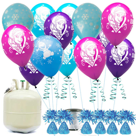 Frozen Happy Birthday Balloon Offer with Helium