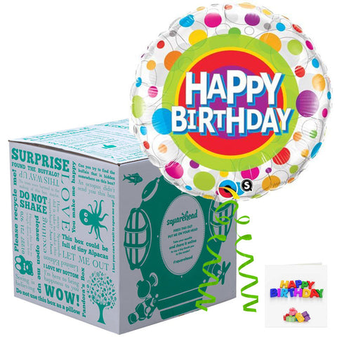 Squarehead Happy Birthday Dots Balloon