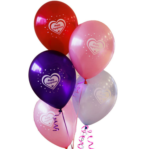 10 Happy Engagement Latex Balloons