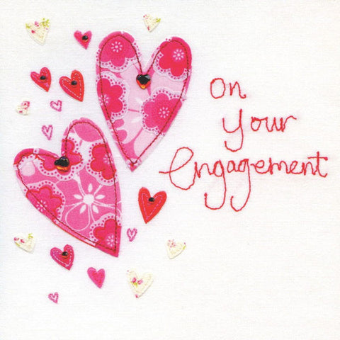 Engagement Two Hearts Card