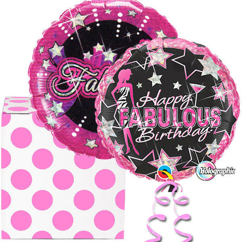 Birthday Girl Black and Pink Polka Dots Balloon Duo