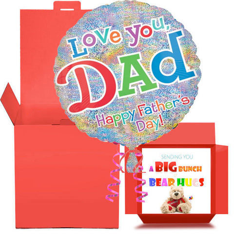 Father's Day Foil Balloon in a Box Gift Free 1st Class Delivery