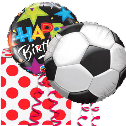 Football Birthday Helium Balloon in a Box Duo Gift