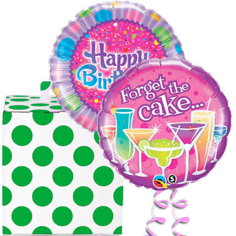 Forget The Birthday Cake Helium Foil Balloon Duo