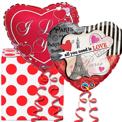 In Love French Helium Balloon Duo