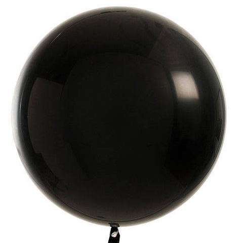 "36"" Black Large Latex Balloon"