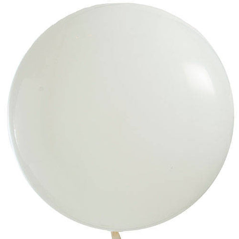"36"" White Large Latex Balloon"