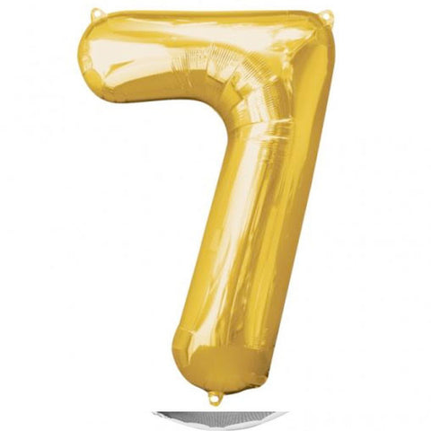 Big Number 7 Gold Foil Balloon