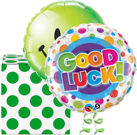 Good Luck Helium Balloon in a Box Duo