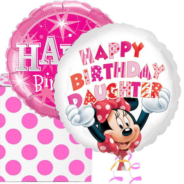 Happy Birthday Daughter Minnie Mouse Balloons Box
