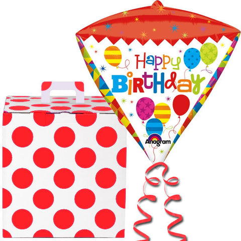 Happy Birthday Helium Balloon Big Diamondz