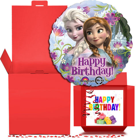 Happy Birthday Frozen Foil Balloon in a Box Gift Free 1st Class Delivery