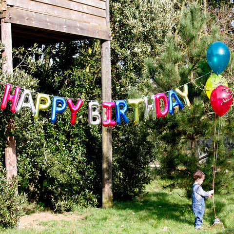 Happy Birthday Foil Balloon Air Filled Kit