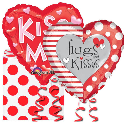Hugs and Kisses 2 Helium Balloons