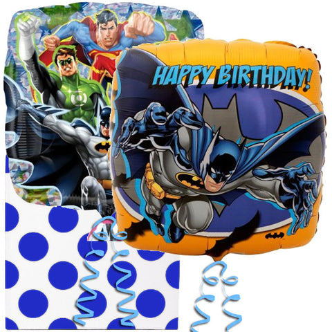 Justice League and Batman Birthday Foil Balloon in a Box