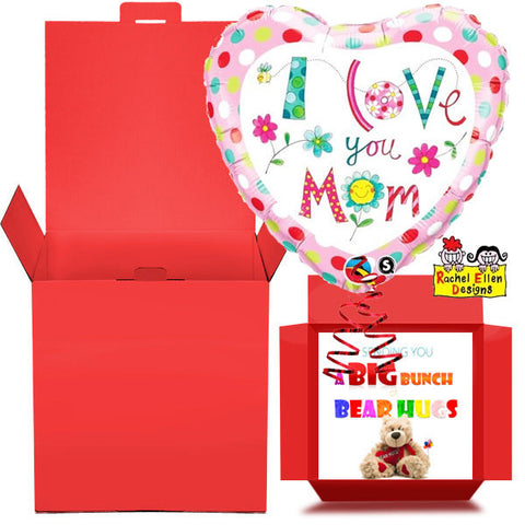 Love You Mum Balloon in a Box Gift Free 1st Class Delivery
