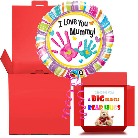 Love You Mummy Balloon in a Box  Free 1st Class Delivery