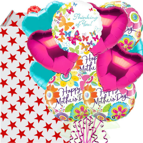 Mega Happy Mother's Day Butterfly Foil Balloon Bouquet