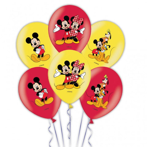 "6 x 11"" Latex Mickey Mouse Character Balloons"