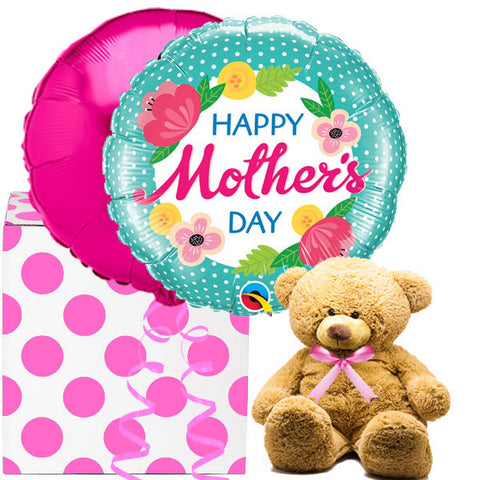 Mother's Day Helium Balloons Gift and Soft Ted