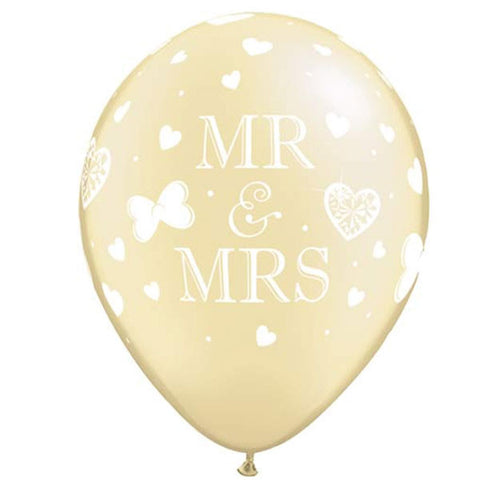 5 Mr. Mrs. Latex Balloons