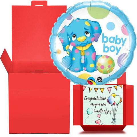 New Baby Boy Balloon in a Box  Free 1st Class Delivery