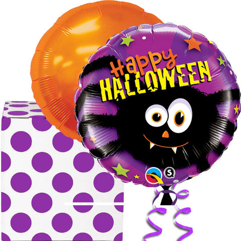 Halloween Party Spider Helium Foil Balloons Duo