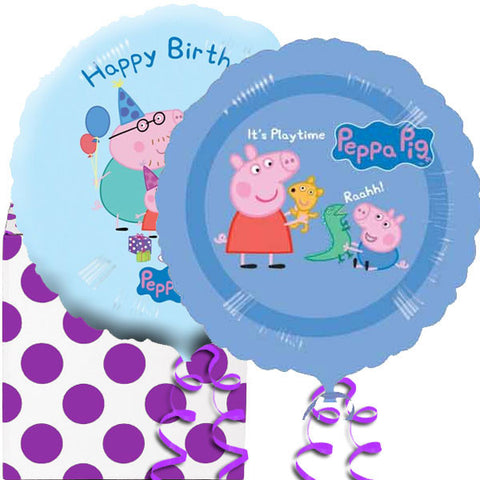 2 Peppa Pig Birthday Foil Balloons in a Box