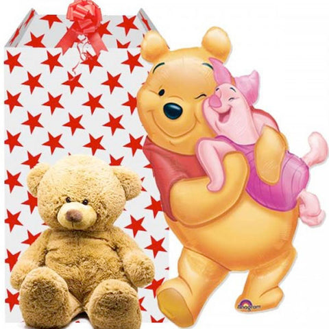 Pooh and Piglet Supersized Helium Balloon with Teddy
