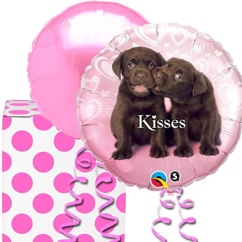 Puppy Kisses Balloons in a Box Gift