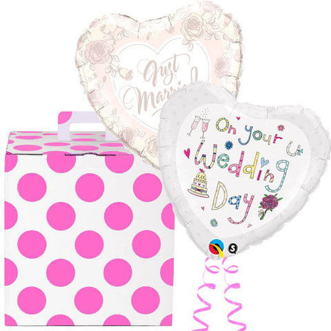 Rachel Ellen Wedding Wishes Helium Foil Balloon Duo