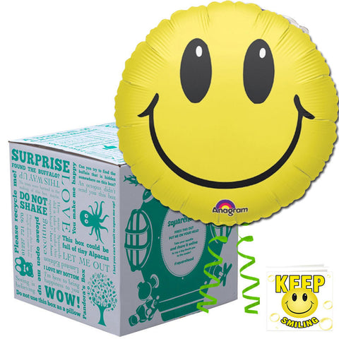 Squarehead Smiley Face Balloon