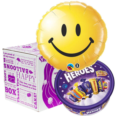 Squarehead Smiley Foil Balloon Sharing Gift
