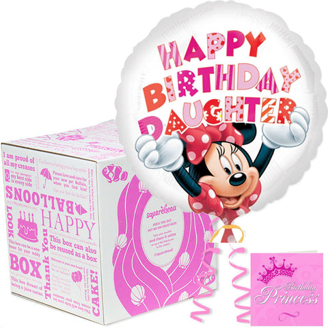 Sqaurehead Happy Birthday Daughter Balloons Box