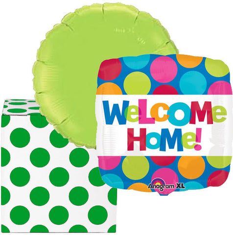Welcome Home Dots Helium Balloons Duo