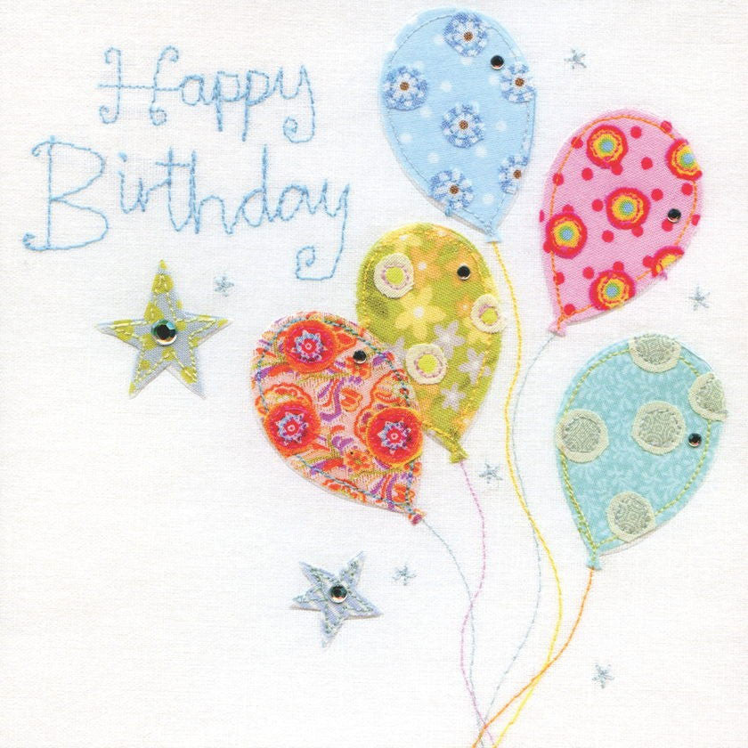 Happy Birthday Balloons Vintage Card