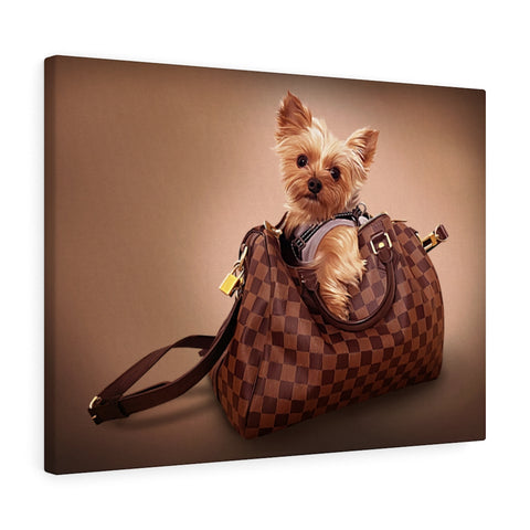 Paws in Purse Custom Pet Canvas