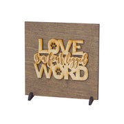 Love is a Four Legged Word Wood Sign