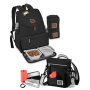 MDG Bundle: Day/Night Walking Bag and Weekender Backpack (Black)