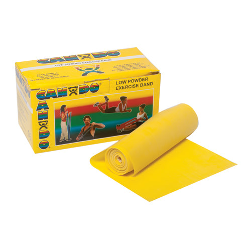 Cando Exercise Band Yellow X- Light 6-Yard Roll
